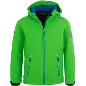 TROLLKIDS Trollfjord Jacket Kids bright green/med blue
